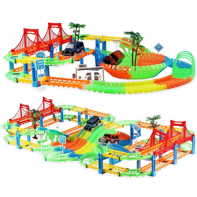 Eisenbahn Rennstrecke Spiel Set pädagogische DIY Biegung flexible - Druckguss- und Spielzeugfahrzeuge - Foto 3
