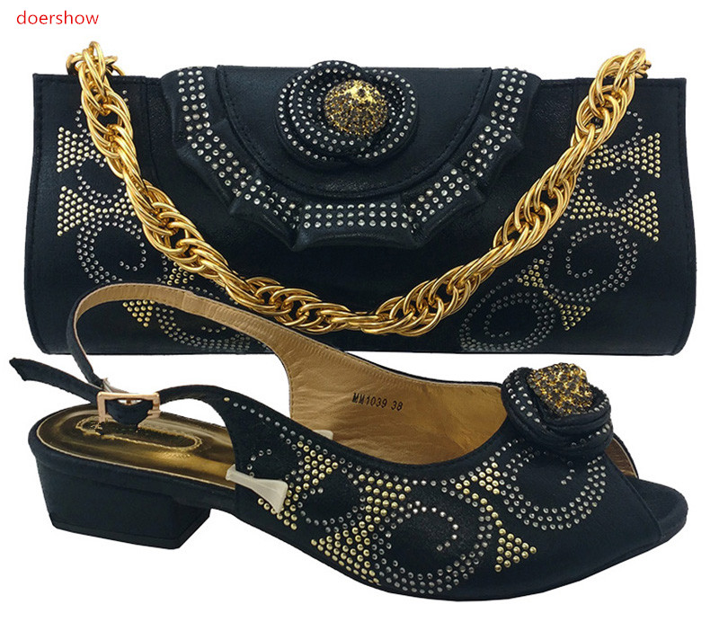 doershow Italian Shoes with Matching bags For party african Shoes And Bags to match set high quality ladies matching shoe !TR1-4 italian shoes with matching bags for party high quality african shoes and bags set for wedding 37 43 mjt1 22