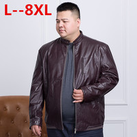 Plus size 10XL 8XL 6XL 5XL 4XL brand PU Motorcycle Leather Jackets Men, Autumn Winter Clothing,Male Casual black red Coats