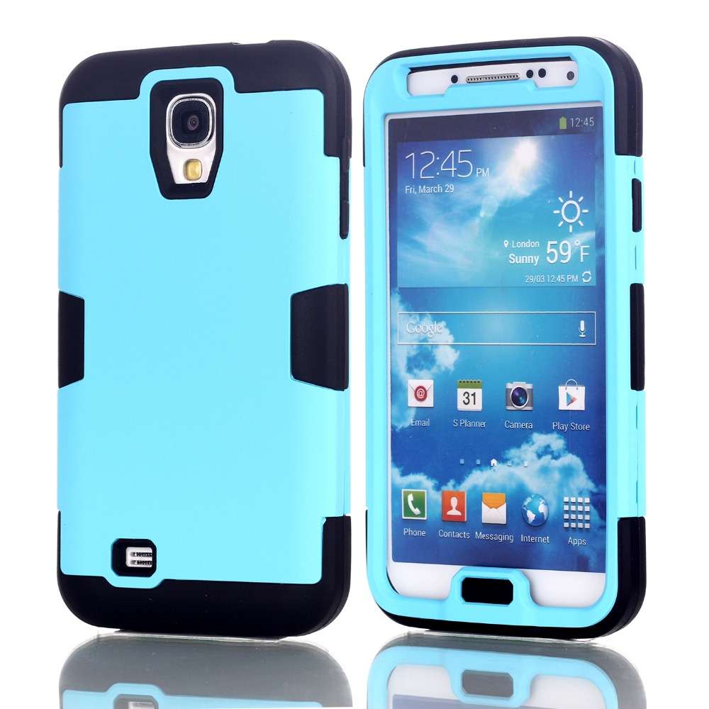 premium selection bd4ee 6c348 Hybrid Rubber ShockProof Protective Heavy Duty Hard Case Cover For Samsung  Galaxy S4 i9500 w/Screen Protector Film+Stylus Pen-in Fitted Cases from ...