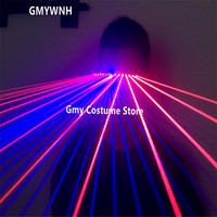 T99 Red blue laser beams light glasses laser man projector stage wears lighted laser costume bar party performance ballroom club