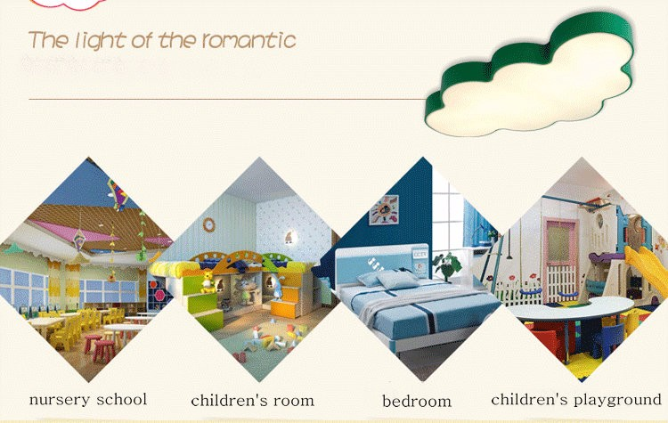 LED Cloud kids room lighting children ceiling lamp Baby ceiling light with yellow blue red white color for boys girls bedroom fixtures_14