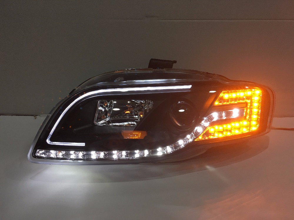 Free shipping for car Head lamp For Audi for A4 B7 LED headlight 2005 2008 year H7 Xenon lens free shipping for vland factory for car head lamp for audi for a3 led headlight 2008 2009 2010 2011 2012 year h7 xenon lens