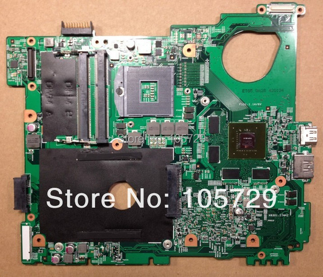 Brand new+Free shipping CN-0MWXPK MWXPK Laptop Motherboard for dell inspiron N5110 Nvidia GT525M graphics DDR3 support core i7