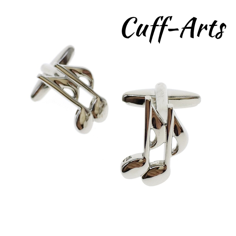 Cuffarts 2018 Cufflinks For Men Music Note Fathers Day Men Jewelry Cuff Links Elegant Gift Tie Clip Cufflinks C20047