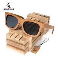 Bobobird Vintage Bamboo Wooden Sunglasses Handmade Polarized Mirror Coating Lenses Eyewear In Wood Box BS011