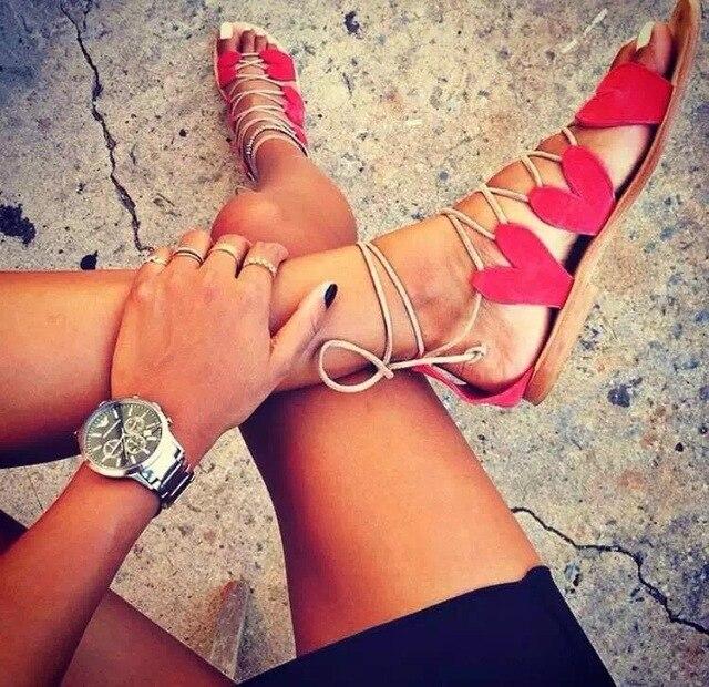 97df71010946 2015 Brand Women Sexy Gladiator Cross Straps Flat Sandals Open Toe Creeper  Lace Up Greek Sandal Chaussure Femme Shoes Women Shoe