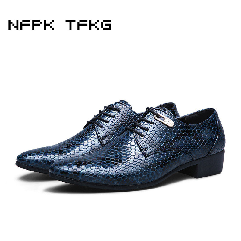 Men's Shoes Fake Snake Skin Print Alligator Leather Shoes Men Loafers Slip On Pointed Toe Men Shoes Casual Slip On 17d50