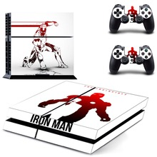 Iron Man Decal PS4 Skin Sticker For Sony Playstation 4 Console +2Pcs Controllers 3 patterns