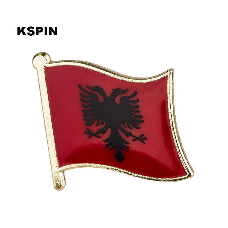 Bosnia Quốc Kỳ Phù Hiệu Kim Loại Pin Dành Cho Quần Áo Rozet Makara Bản Sao Đồng Tiền KS-0036