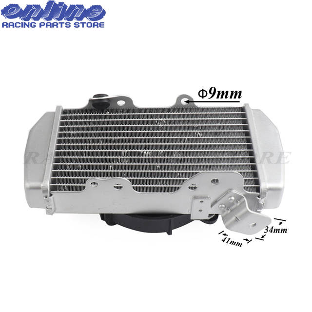 US $133 45 15% OFF|Zongshen 4 valve NC250 water cooled 250cc engine  radiator xmotos apollo water box with fan accessories For KAYO BSE  motorcycle-in