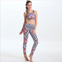 Women Sport Costumes Clothing Sportswear Yoga Set Sports Suit Running Fitness Sports 3D Printed Yoga Clothes