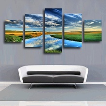 Hot sales 5 pieces withframed Wall Art Picture Gift Home Decoration Canvas Print painting beautiful sea Sunset wholesale HOT(34)