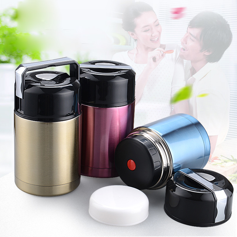 800ml Double Deck Thermos Bottle Thermal Lunch Box Travel Drink Heat Preservation Coffee Stainless Steel Vacuum Cup
