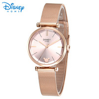 Women Watches Disney Original Stainless Steel Bracelet Luxury Rose Gold Silver Quartz Watch 2018 Geneva Ladies Watch Wristwatch