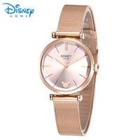 Women Watches Disney Original Stainless Steel Bracelet Luxury Rose Gold Silver Watch 2017 Geneva Quartz Ladies