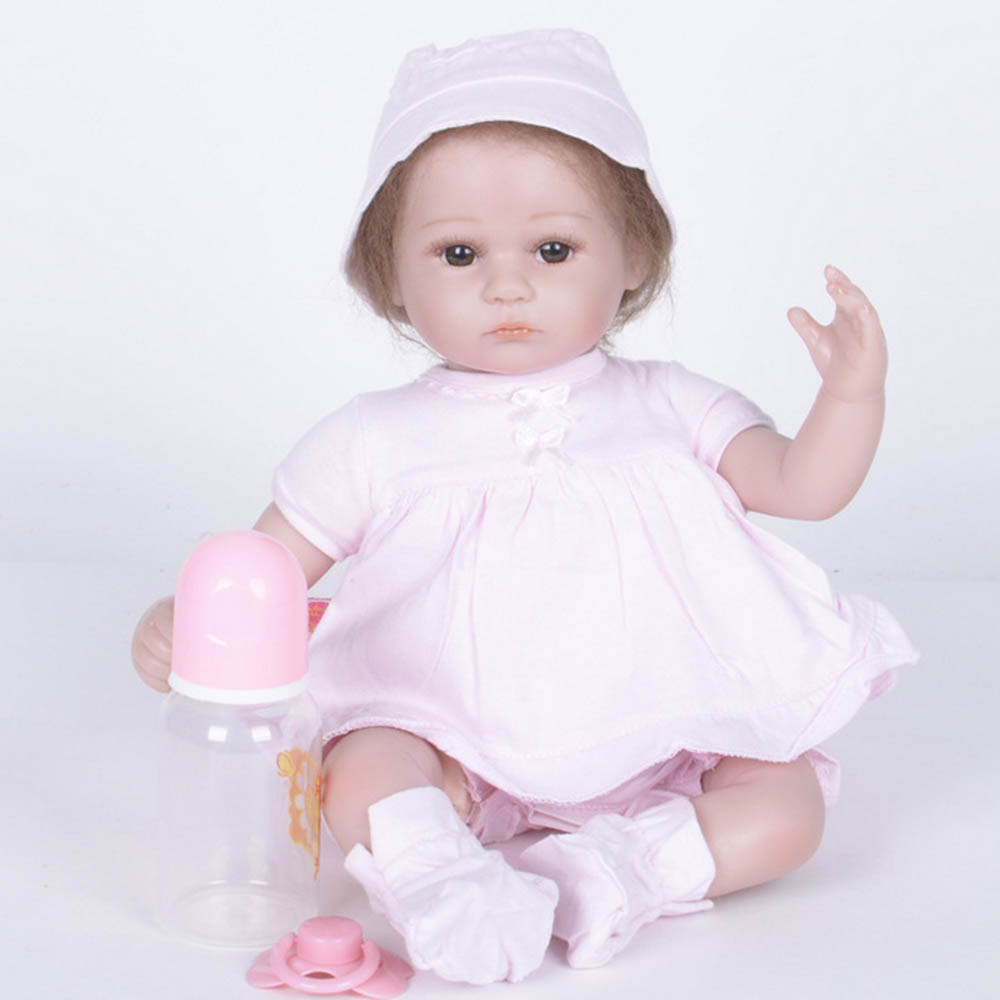 42cm Exquisite Newborn Girl Doll Silicone Soft Realistic Reborn Baby Dolls with Cloth Body Toy for Children Birthday Xmas Gift цены