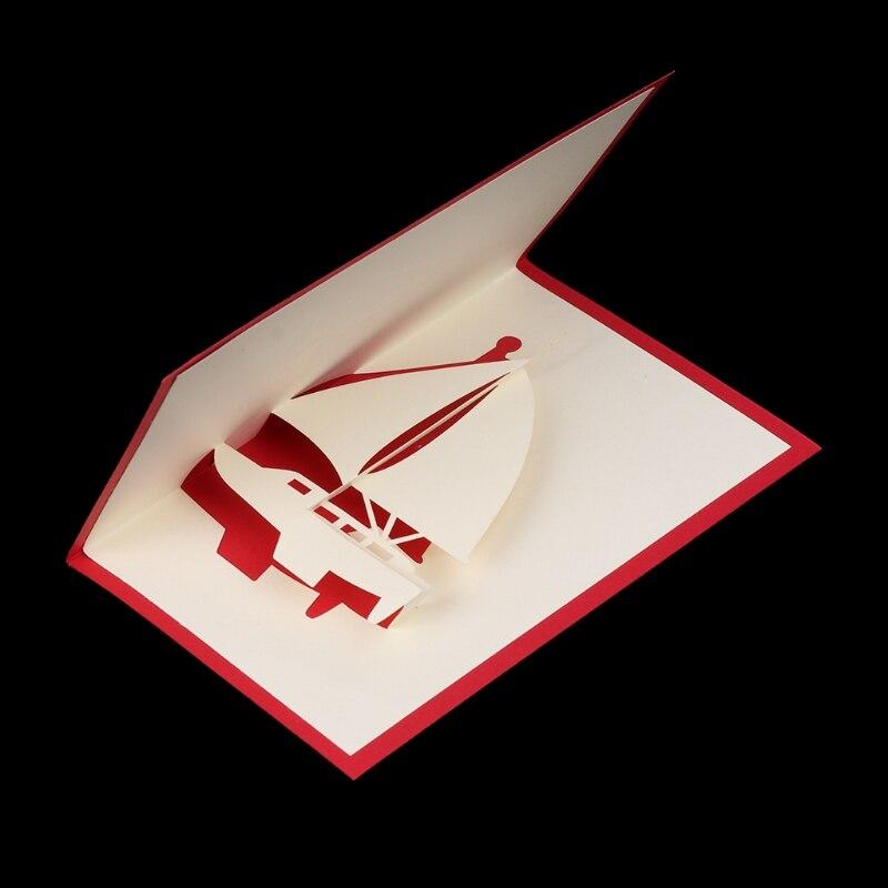 5 Style 3d Laser Cut Pop Up Paper Handmade Custom Greeting Cards