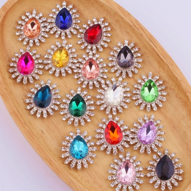 120PCS 27 32MM Vintage Chic Shiny Silver Crystal Button For Wedding  Invitation Rhinestone Buttons For 80a43a532657