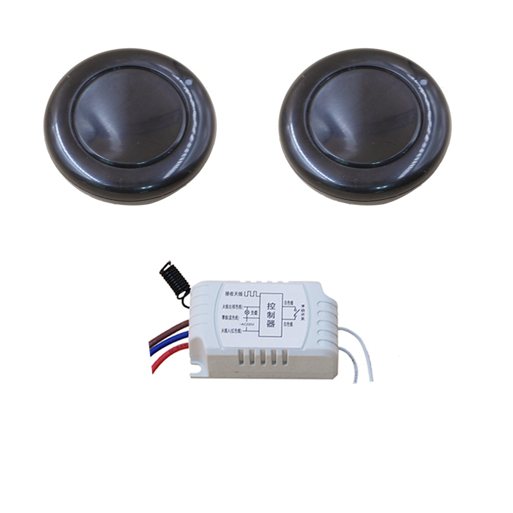 New AC220V 1CH Radio Controller RF Wireless Relay Remote Control Switch 315 MHZ 433 MHZ 2 pcsTransmitter Round +1 pcs Receiver 315 433mhz 12v 2ch remote control light on off switch 3transmitter 1receiver momentary toggle latched with relay indicator