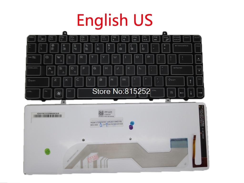 64d93f18bca Laptop Backlit keyboard For DELL M11X R2 R3 00MJ7Y English US 05HK36 United  Kingdom UK Arabia AR Russia RU Latin America LA new