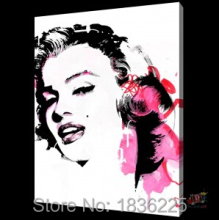 Art Supplies Handmade Paintings On Canvas Wallpaper Marilyn Monroe Canvas  Oil Painting Wall Stickers Home Decor Wall Decor Part 89