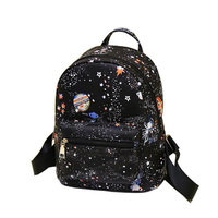 Luxury Women Cartoon Printing Backpacks Designer High Quality School Bags For Teenagers Girls PU Leather Shoulder