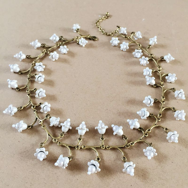 Free Shipping New Choker Statement White Sweet Neklace, Fresh Water Pearl White Flower Necklace