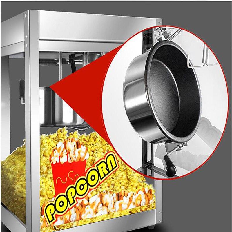 Commercial Household Healthy Mini Hot Air Oil-free Popcorn Making Machine Corn Poping Popper 1400w 1pc healthy no oil eu plug popcorn machine maker for children