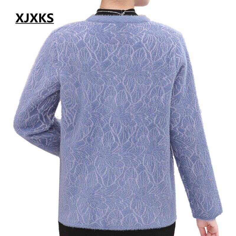 Femmes Xjxks Hiver Vestes Casual Vêtements Manteaux pourpre Automne Mère Et 2018 Féminin Survêtement Manteau Qualité bleu Haute Beige rouge De gI6vbfyYm7