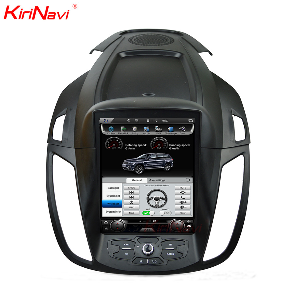 KiriNavi Vertical Screen Tesla Style 10.4 Inch Car DVD player For Ford Kuga Android Car Audio Stereo Multimedia GPS 2013 2015