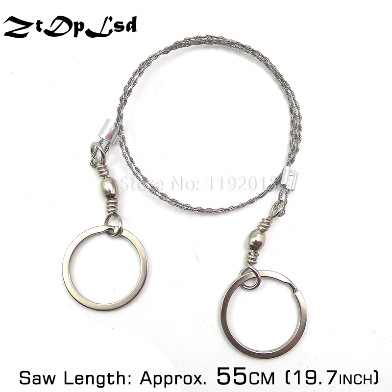 1PC Outdoor String Wire Saw Carbon Ring Scroll Hand Rope Chain Saws Wood Tool