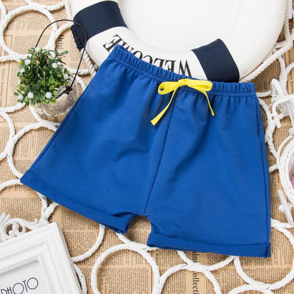 Kids Boys Girls All Match Solid Color Beach Shorts in Shorts from Mother Kids