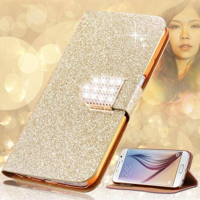 ︻Роскошные модные блестящие алмазов ПУ кожа сотовый ...