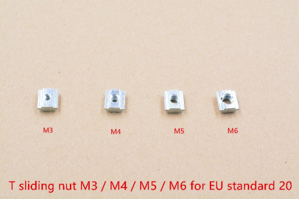 T sliding nut block M3 M4 M5 M6 slide t nut for EU standard 20 aluminum profile slot 6mm cnc part 10pcs подвесная люстра lucia tucci firenze 141 5 coffe gold