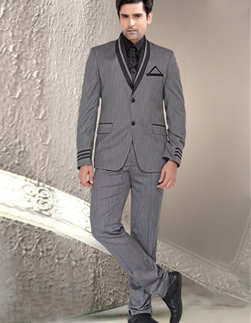 India Classic Style Formal Slim Two Buttons Three Pockets Groom ...