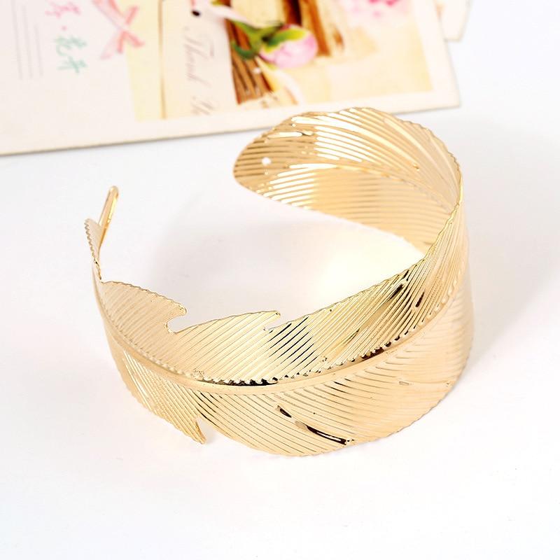 gold color leaf bangle carter love bracelet jonc minimalist bracelet wide cuff bracelets for women body jewelry