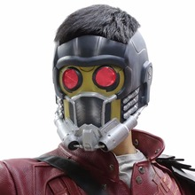 Star Lord Mask Halloween Masks Guardians of the Galaxy Helmet With Glow Glasses PVC for Adults Cosplay Props New Version XCOSER
