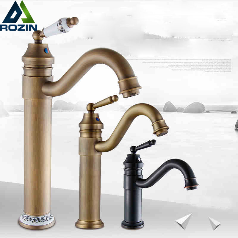 ФОТО Good Quality Single Lever Hot and Cold Bathroom Faucet Deck Mount Rotation Kitchen Mixer Taps