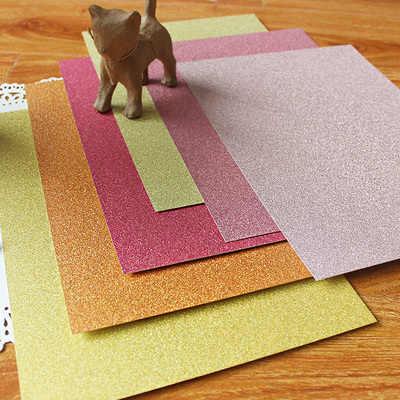 А4 красный и золотой высокое качество супер Блестки для рукоделия бумажная