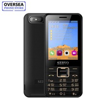 Купить с кэшбэком SERVO V8100 2.8 Inch 4 Four SIM Cards 4 Standby Cellphone Bluetooth Flashlight FM GPRS Russian Keyboard Mobile Phone