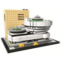 Lepin Pogo Bela 10679 744PCS Landmark Building Solomon R Guggenheim Museum Buidling Blocks Bricks Compatible With