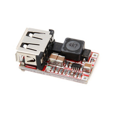 цена на New DC-DC Buck Step Down Module 6-24V 12V/24V to 5V 3A USB Charger Module For Arduino
