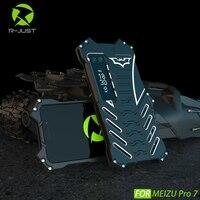 Đối với Meizu Pro 7 Trường Hợp Sang Trọng Batman 3D Slim Nhôm kim loại bumper Khung Cứng Armor Bảo Vệ Chống Sốc Trở Lại Điện Thoại Trường Hợp bìa