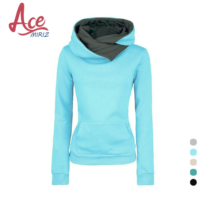 Spring 2017 Autumn Winter Women Casual Solid Hoodies