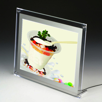 A5 Single Sided Counter Desktop Illuminated Picture Frames Led Light Box Tabletop Lightbox Displays For Cafe