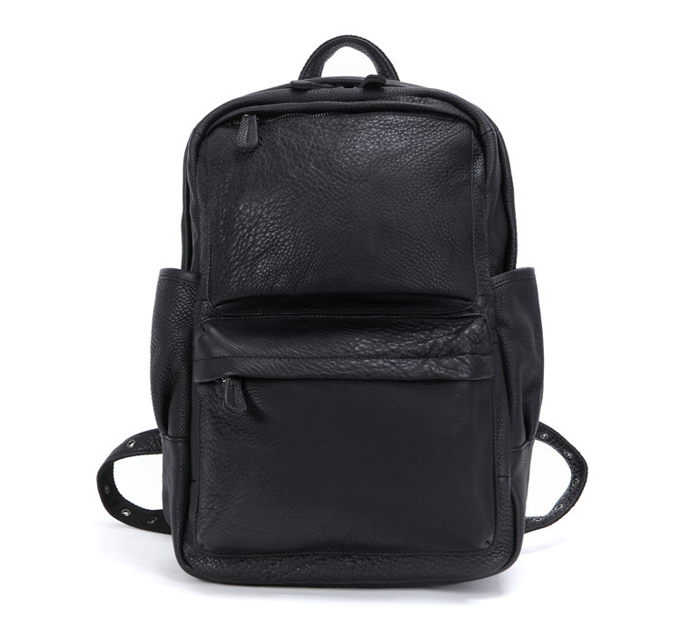 100% Cow Genuine Leather Men Backpacks New Fashion Real Natural Leather Student Backpack Boy Computer Laptop Bag