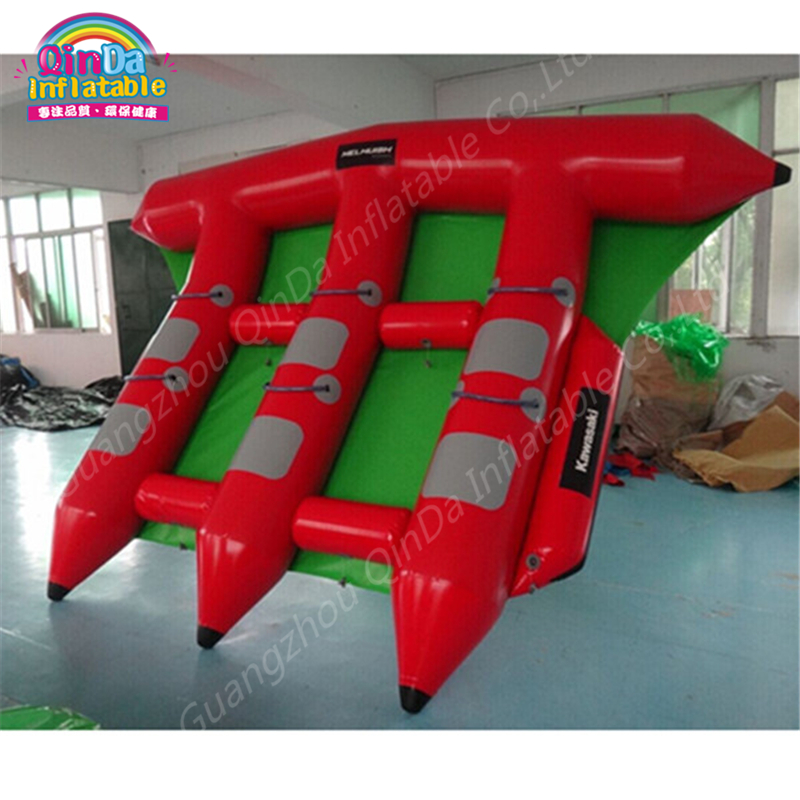 3 Tubes Flying Towables Inflatable Flying Fish Banana Boat For Water Sports, Inflatable Flying Towables Tube Sport Boat flying banana boat wave surfing flying mantaray inflatable boat inflatable flying toward water sport toy