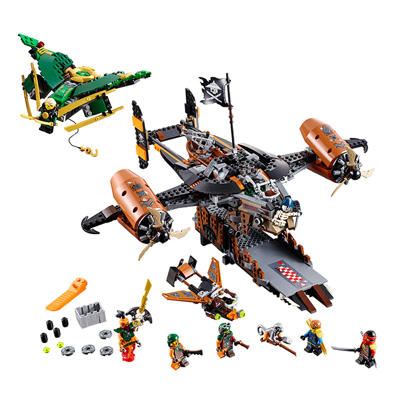 LEPIN 06028 Flying Pirate Misfortune Keep Marvel Ninja Building Block Figures DIY Assemble Active Model Brick Toy Kids Gift lepin 22001 pirate ship imperial warships model building block briks toys gift 1717pcs compatible legoed 10210