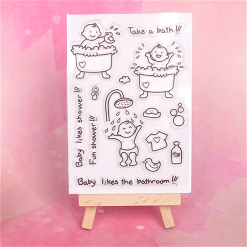 Baby shower  Transparent Clear Silicone Stamp/Seal for DIY scrapbooking/photo album Decorative clear stamp